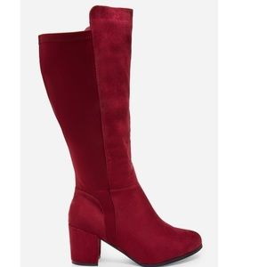Ashley Stewart Faux Leather Knee-High Boots